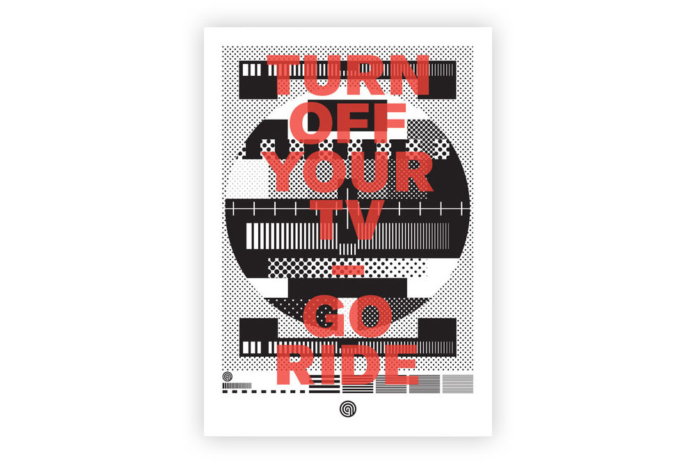 Turn Off Your TV Go Ride Bicycle Greeting Card by Anthony Oram