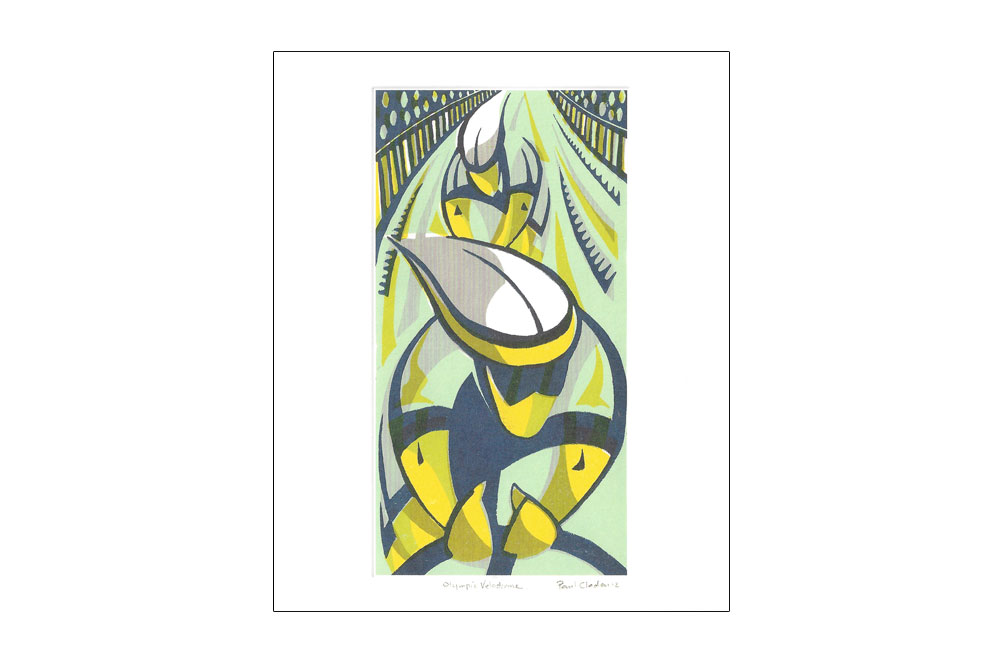 Olympic Velodrome Bicycle Greeting Card by Paul Cleden