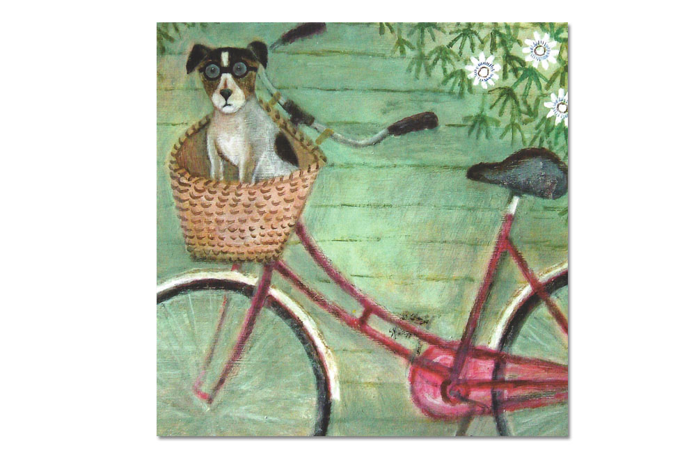 Co-Pilot Bicycle Greeting Card