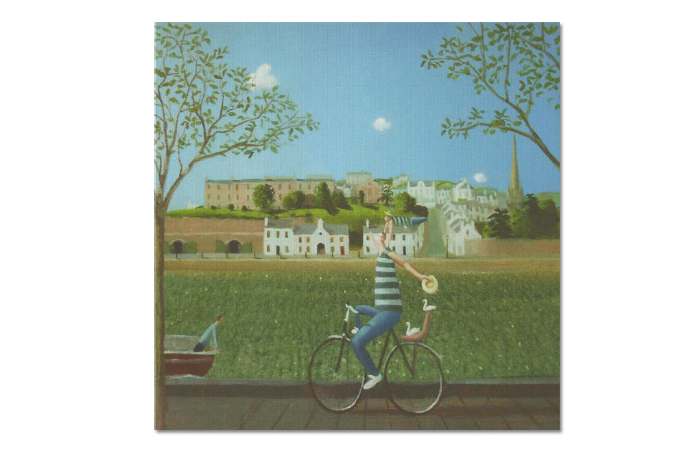 Hats Off to a Beautiful Day Bicycle Greeting Card