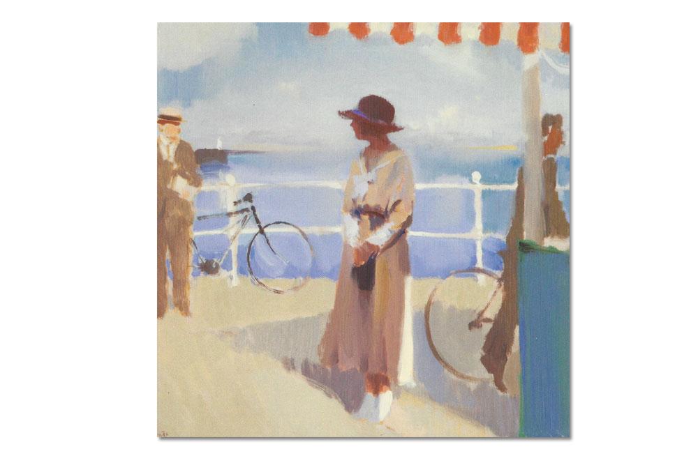 The Promenade Bicycle Greeting Card