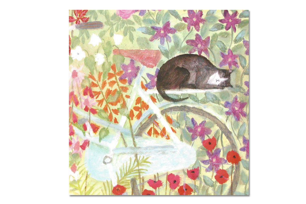 Secret Garden Bicycle Greeting Card