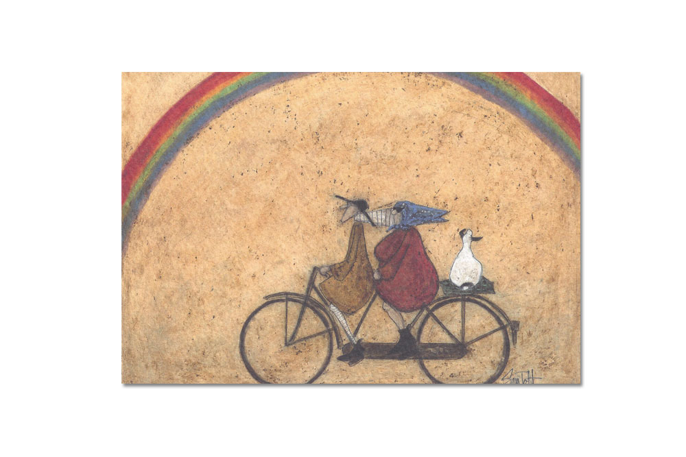 Somewhere under a Rainbow Tandem Greeting Card