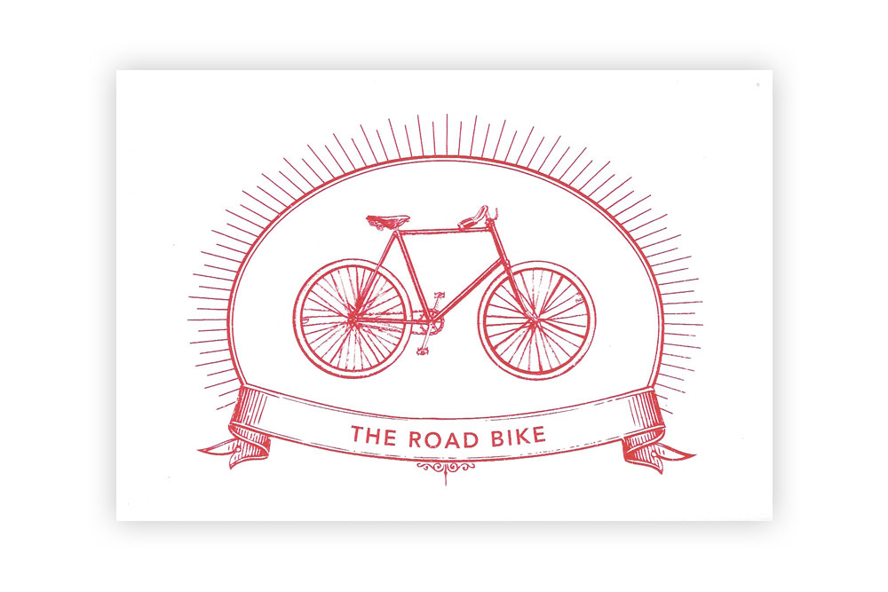 The Road Bike Bicycle Greeting Card