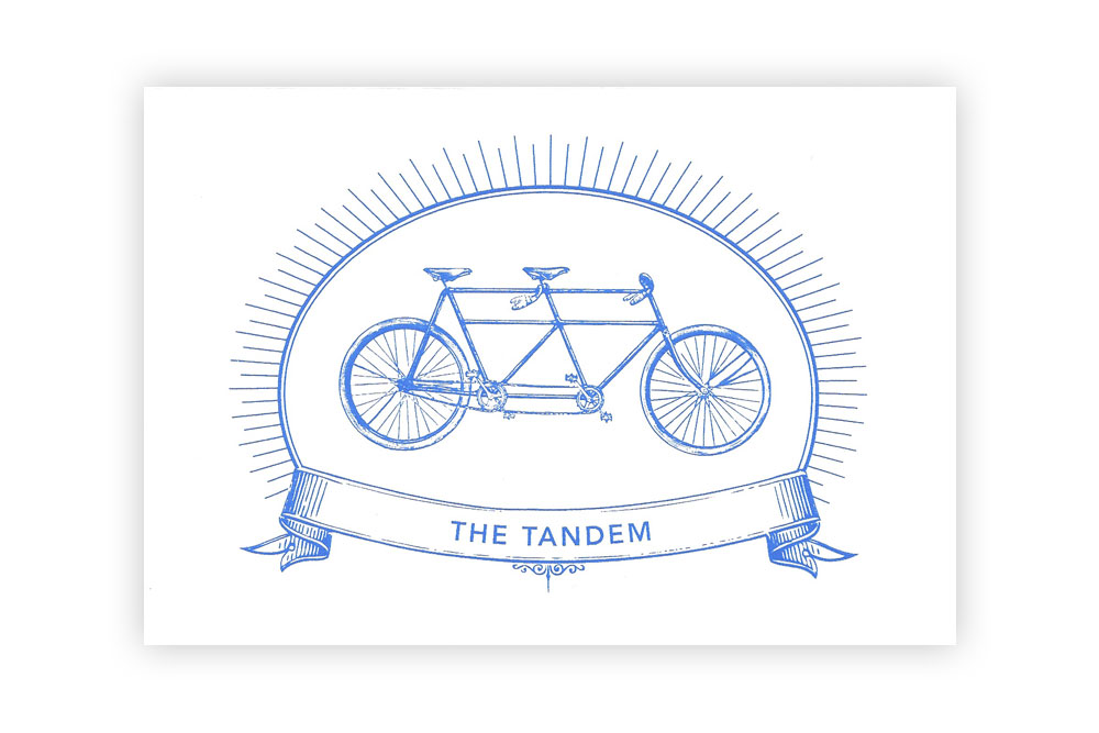 The Tandem Bicycle Greeting Card