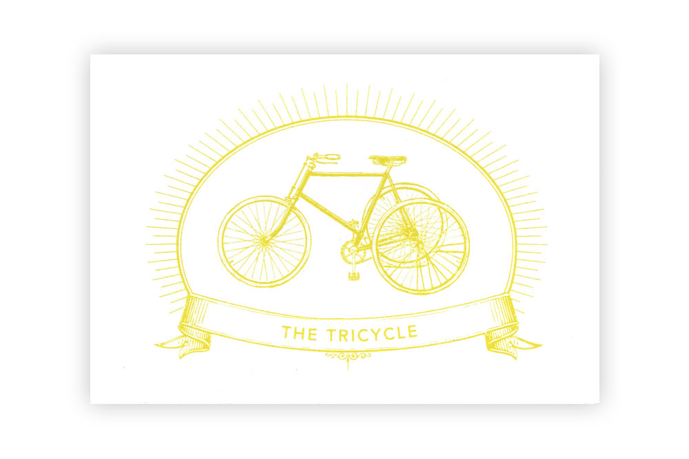 The Tricycle Bicycle Greeting Card