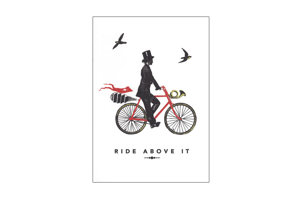 A Gentleman Rides Bicycle Greeting Card
