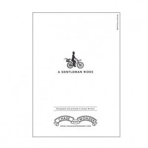 A Gentleman Rides Bicycle Greeting Card