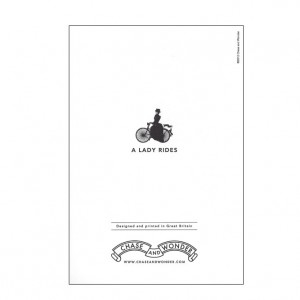 A Lady Rides Bicycle Greeting Card