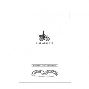 Ride Above It Bicycle Greeting Card
