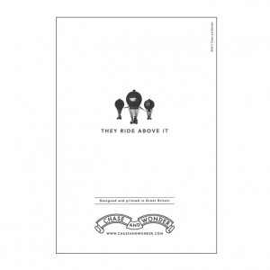 They Ride Above It Bicycle Greeting Card