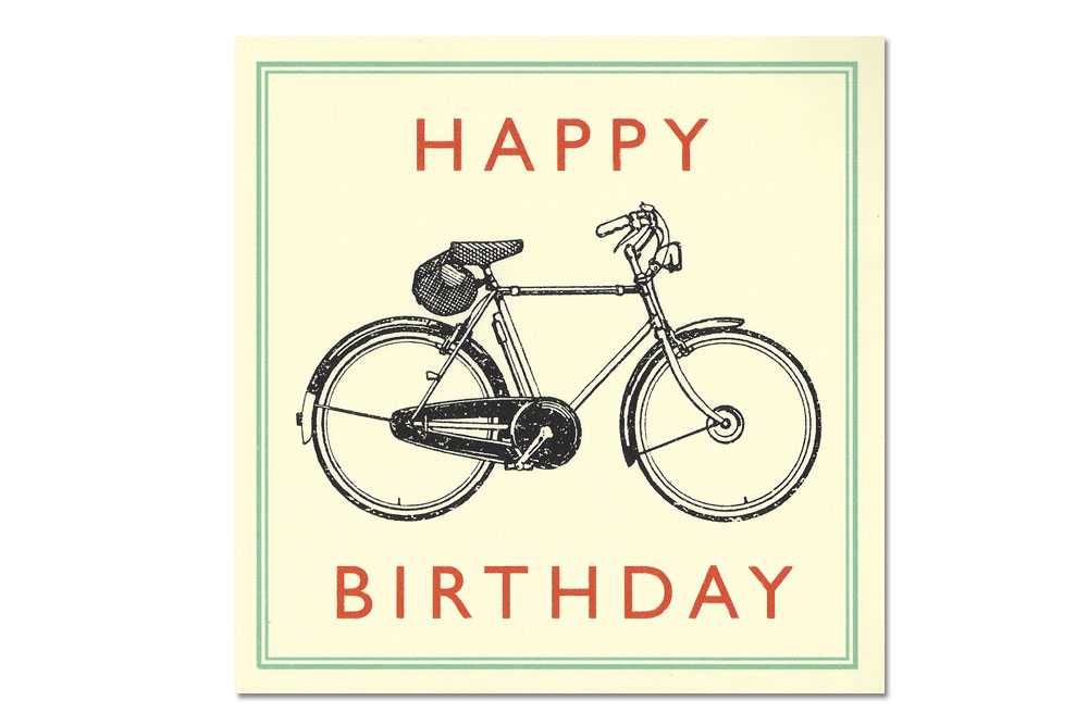 Happy Birthday Bicycle Greeting Card