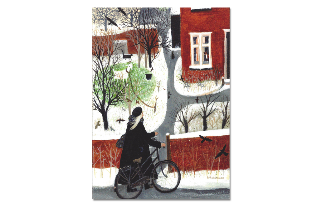 Arriving Home Bicycle Greeting Card
