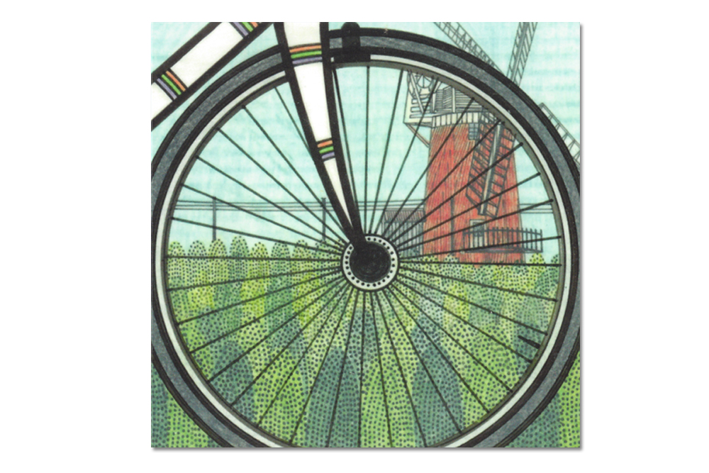 Spokes Bicycle Greeting Card