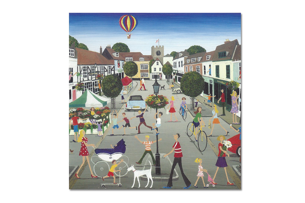 Alresford in Hampshire Bicycle Greeting Card