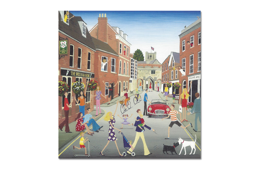 The Wykeham Arms, Winchester Bicycle Greeting Card