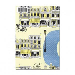 Blue Brick Road Bicycle Greeting Card