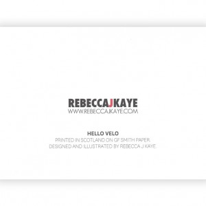 Hello Velo Bicycle Greeting Card – Rebecca J Kaye