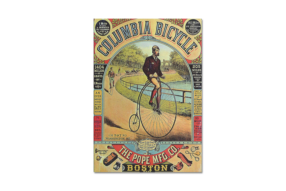Columbia Penny Farthing Greeting Card