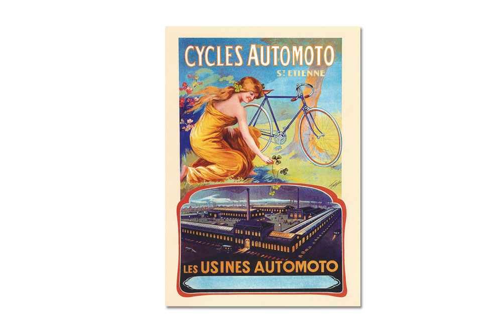 Cycles Automoto Bicycle Greeting Card