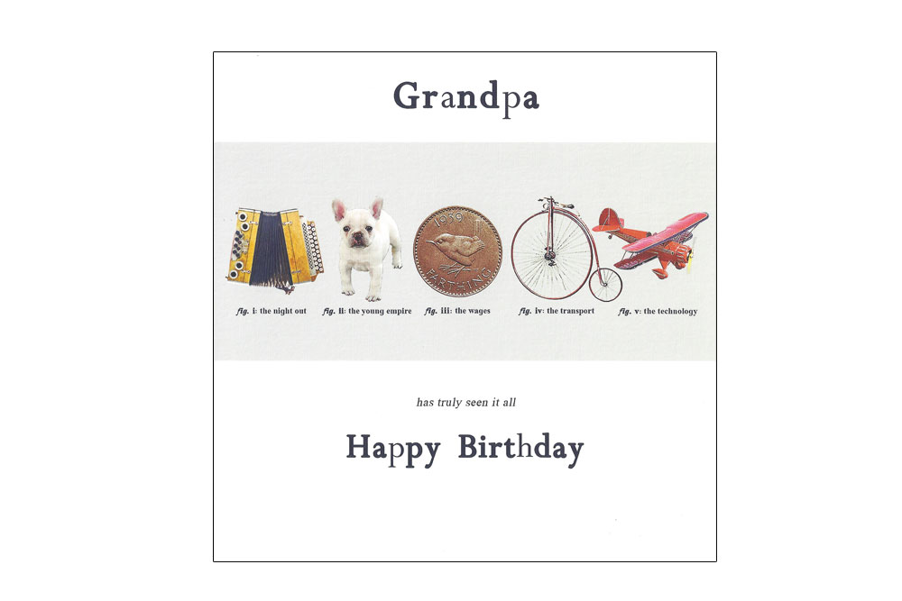 Grandpa Bicycle Greeting Card