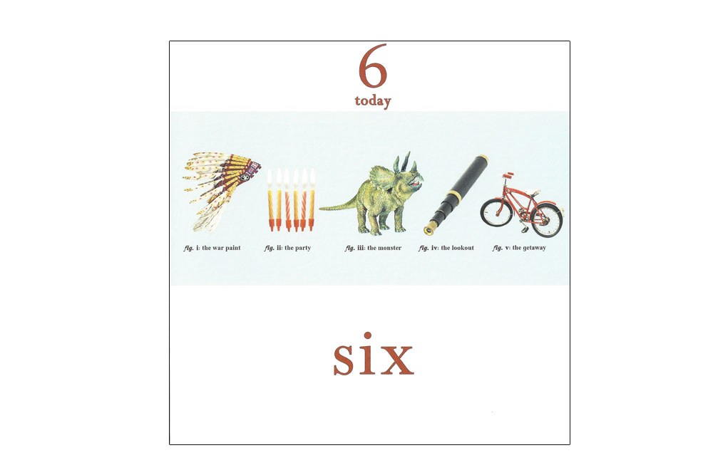 Age Six Bicycle Greeting Card