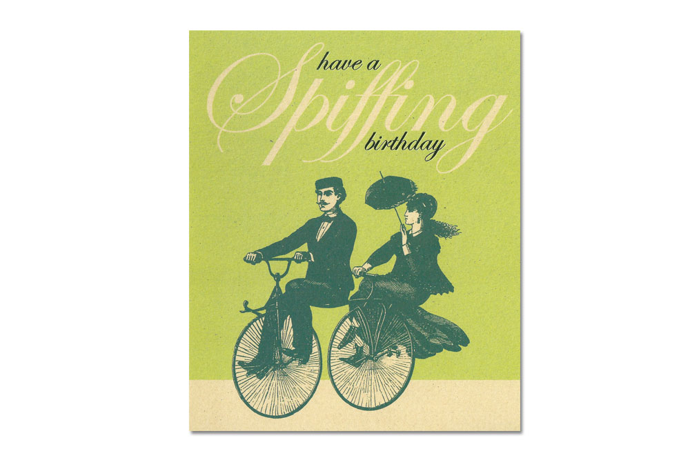 Spiffing Birthday Bicycle Card