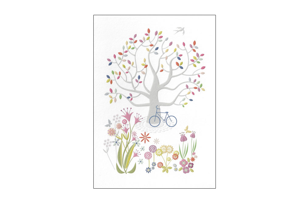Summer Meadow Bicycle Greeting Card