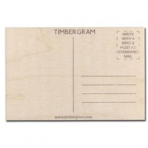 Happy Birthday Bicycle Timbergram Card
