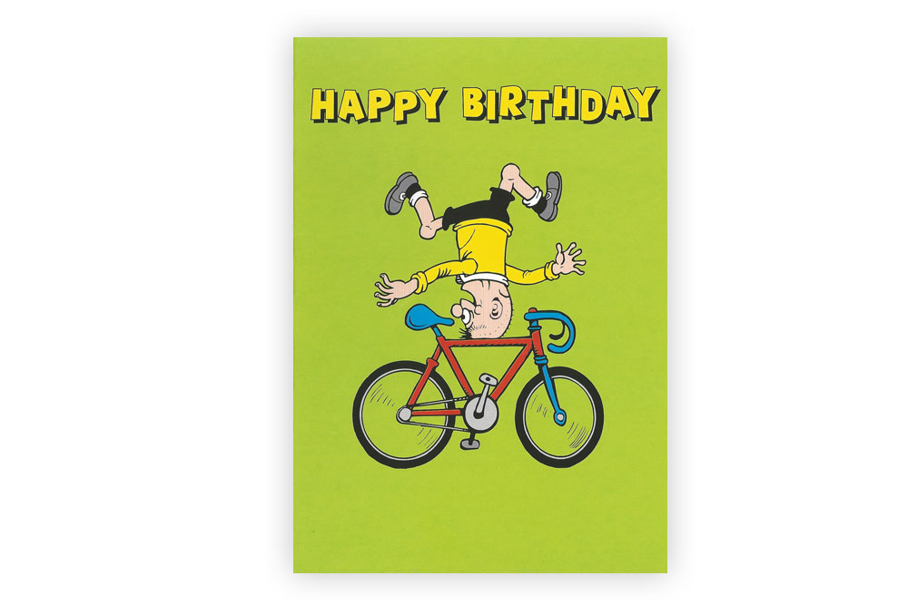 Beano Happy Birthday Bicycle Greeting Card | CycleMiles