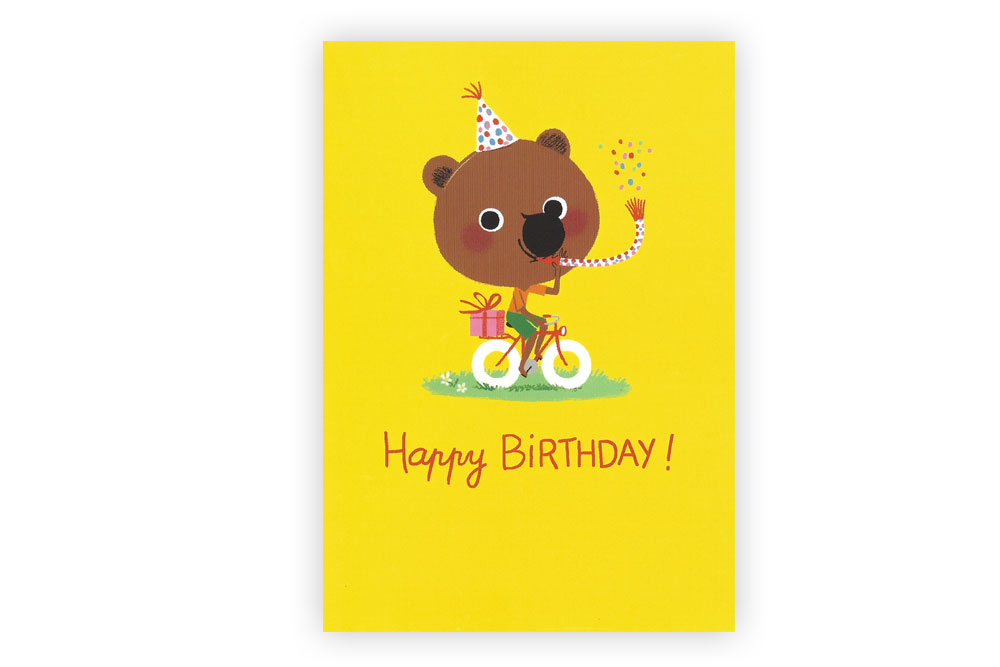 Happy Birthday Bicycle Greeting Card