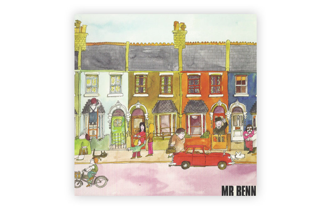Mr Benn Bicycle Greeting Card