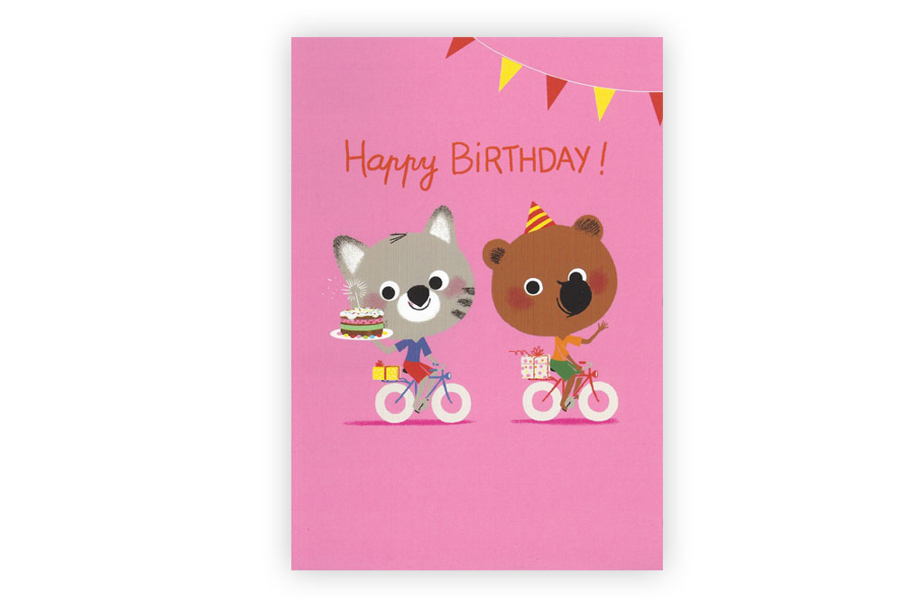 Happy Birthday Children's Bicycle Greeting Card