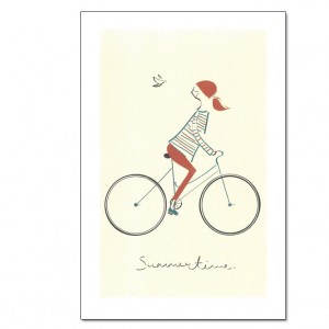 Summertime Bicycle Greeting Card