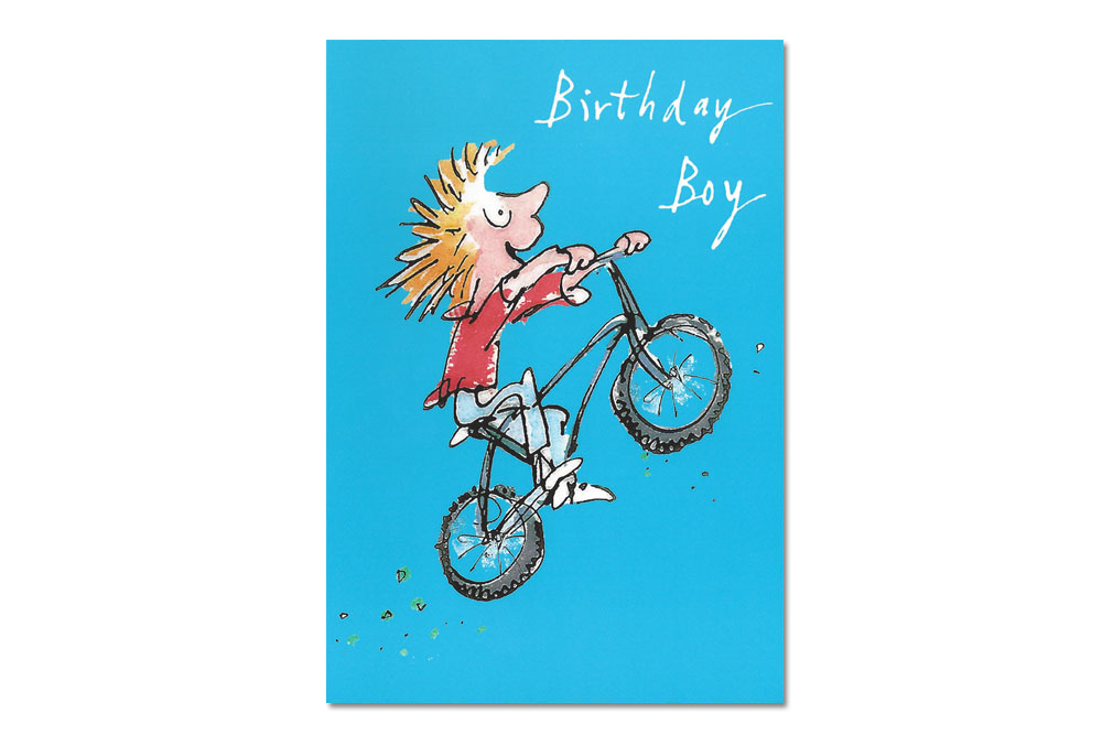 Birthday Boy Bicycle Greeting Card