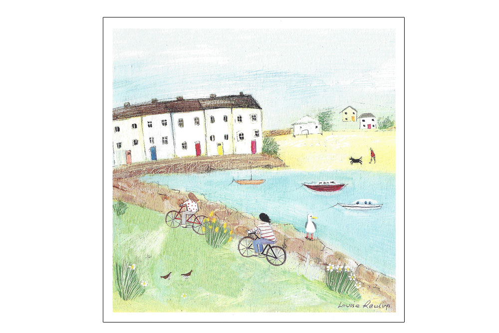 Bobbing Along Bicycle Greeting Card