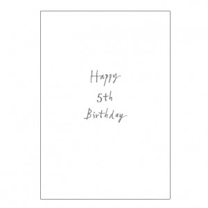 Happy 5th Birthday Bicycle Greeting Card