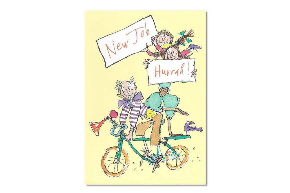 New Job Hurrah! Bicycle Greeting Card