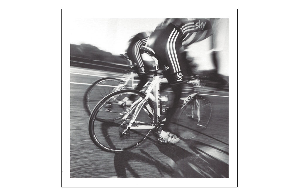 Team Sky Bicycle Greeting Card