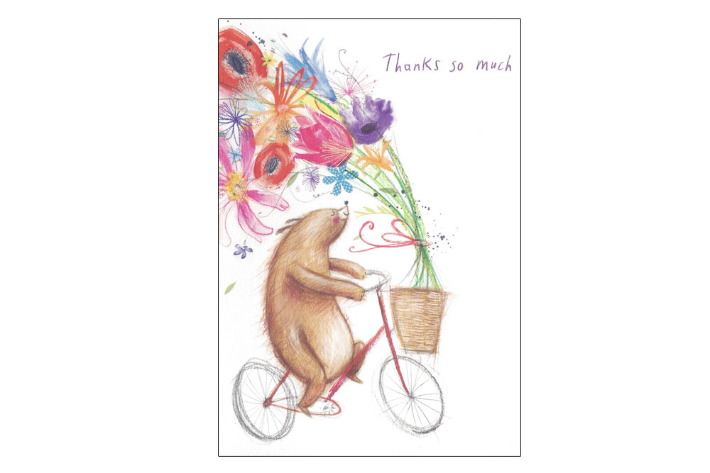Thanks so much Bicycle Greeting Card
