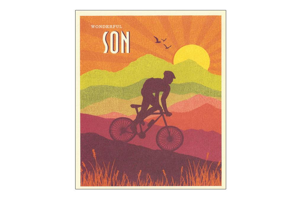 Wonderful Son Bicycle Birthday Card Cyclemiles