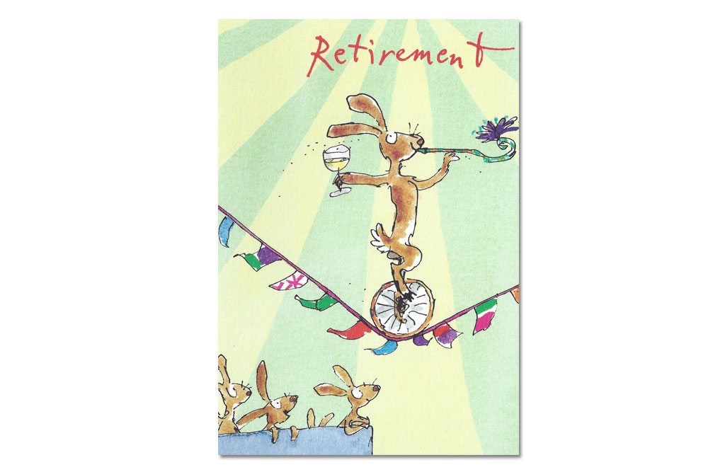 Retirement Bicycle Greeting Card