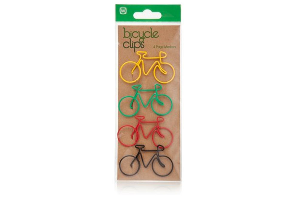 Green Bicycle Paper Clips