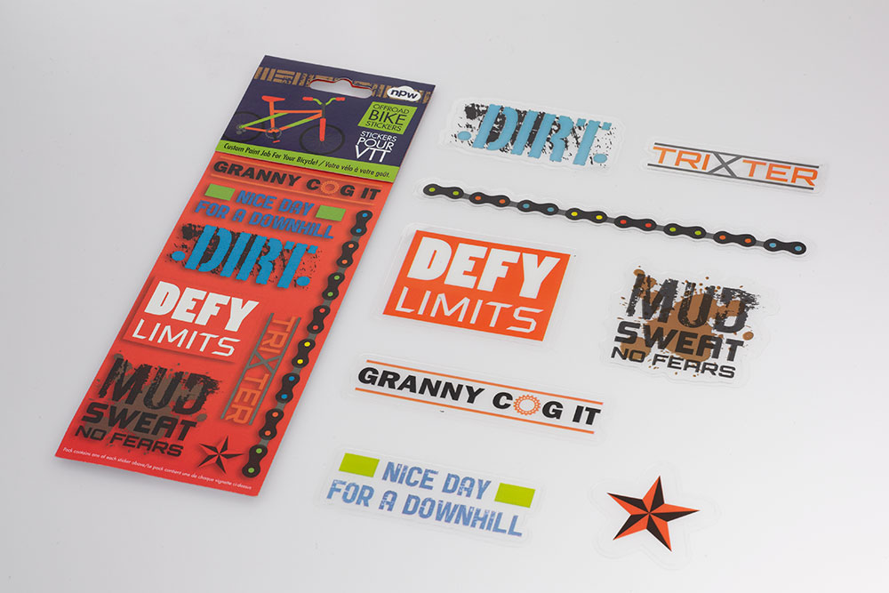 Mountain Bicycle Stickers