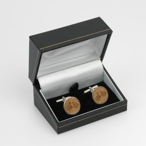 Maria Allen Sterling Silver Bicycle Cufflinks