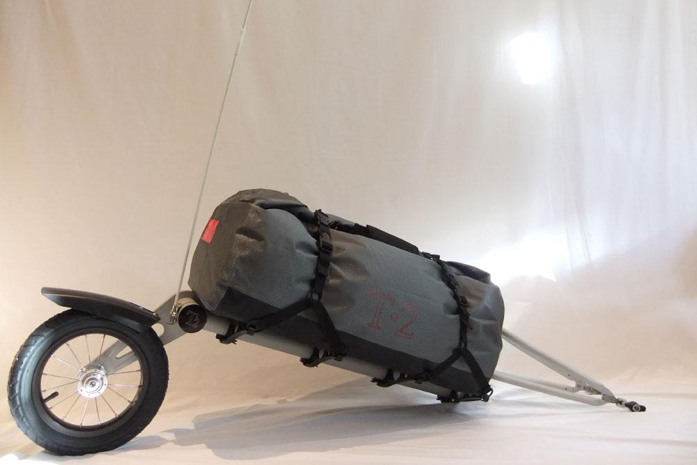T2 single wheel bicycle trailer