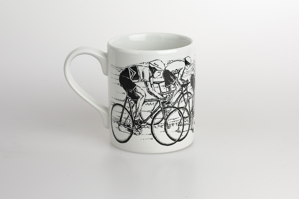 Sprint Finish Bicycle Mug