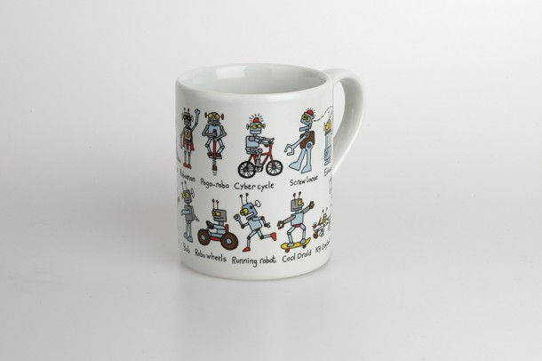 Child S Robot Bicycle Mug Cyclemiles