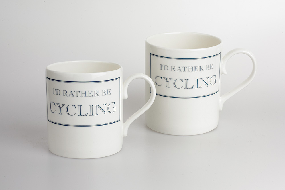 I'd Rather Be Cycling Bicycle Mug – Blue