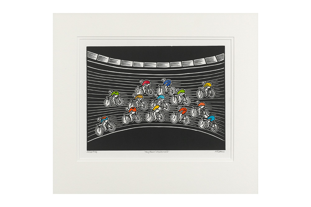 Ahoy There! Velodrome II Cycling Print – Hugh Ribbans